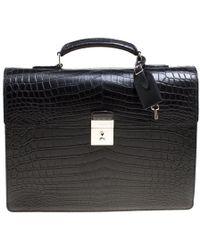 Louis Vuitton - Crocodile Robusto Briefcase - Lyst