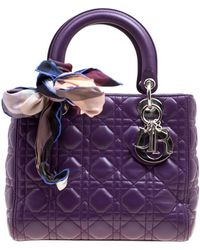 Dior Lady Purple Leather