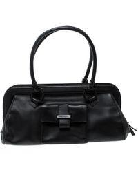 Ferragamo - Leather Frame Satchel - Lyst
