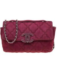 4819d5d0b371 Chanel - Burgundy Nubuck Leather Ultra Stitch Shoulder Bag - Lyst