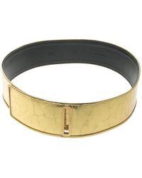 Chanel - Distressed Leather Waist Belt 90cm - Lyst