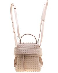 Tod's Blush Pink Leather Mini Wave Top Handle Backpack