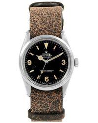 Rolex - Stainless Steel Explorer Vintage Men's Wristwatch 36mm - Lyst