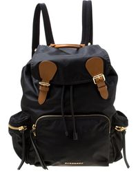 Burberry - The Rucksack Black Synthetic Backpacks - Lyst