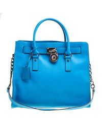0a6f3805602d4e Michael Michael Kors Hamilton Croc-embossed Leather Tote Bag in ...