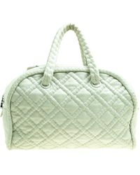 ee909d3455e4 Chanel - Light Quilted Leather Bowler Bag - Lyst