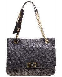 Lanvin - Metallic Quilted Ceramic Effect Leather Happy Shoulder Bag - Lyst