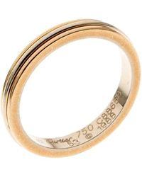 Cartier Trinity De 18k Three Tone Gold Band Ring Size 53 - Metallic