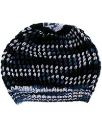 Missoni Multicolour Chunky Knit Cashmere And Wool Beanie