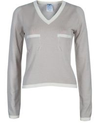 Chanel - V Neck Jumper M - Lyst
