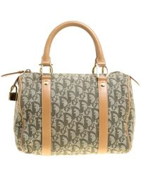 0090fb0fba Ralph Lauren · Dior -  brown Issimo Canvas And Leather Small Boston Bag -  Lyst