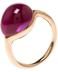 Pomellato - Rouge Passion Synthetic Pink Sappire & 9k Rose Gold Ring - Lyst
