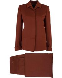 Burberry - Rust Red Wool Skirt Suit S - Lyst