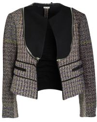 Céline - Wool Zip Detail Crop Jacket M - Lyst