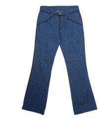 Louis Vuitton - Indigo Dark Wash Contrast Piping Boot Cut Denim Jeans S - Lyst