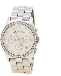 ffeb05c5e Marc By Marc Jacobs - Silver Stainless Steel Crystal Henry Mbm3104 Women's  Wristwatch 39 Mm -