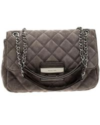 a5d94620d080 Michael Kors Metallic Python Embossed Leather Small Sloan Shoulder ...