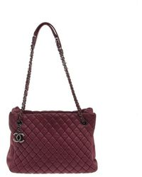Chanel - Leather New Bubble Medium North-south Tote - Lyst