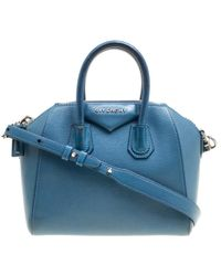 Givenchy - Antigona Blue Leather - Lyst