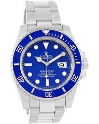 Rolex - Ceramic And 18k White Gold Submariner Men's Wristwatch 40mm - Lyst