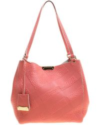 Burberry - Embossed Leather Canterbury Tote With Pouch - Lyst 2bd0d7bfeb505