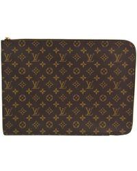 Louis Vuitton - Monogram Canvas Poche Document Case - Lyst