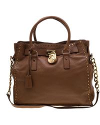 d7afad96c765 MICHAEL Michael Kors 'hamilton' Large Messenger Bag in Brown - Lyst