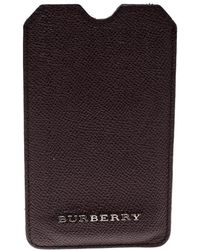 Burberry - Dark Leather Iphone Case - Lyst