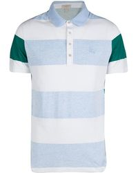 f424f4a88 Burberry - Brit Tricolor Contrast Striped Short Sleeve Polo T-shirt L - Lyst