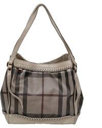 Burberry - Smoked Check Coated Canvas Tote - Lyst