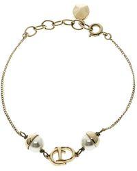 Dior - Mise En Faux Pearl Tone Bracelet - Lyst