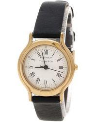 Tiffany & Co. - White Gold Plated Portfolio Women's Wristwatch 25 Mm - Lyst