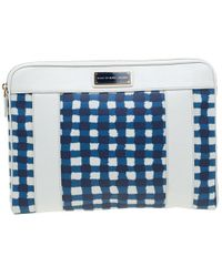 Marc By Marc Jacobs - /blue Coated Canvas And Leather Notebook Case - Lyst