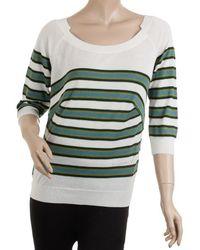Louis Vuitton - Striped Boat Neck Sweater L - Lyst