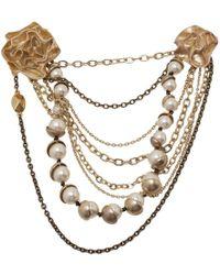 Dior - Mise En Faux Pearl Chain Brooch - Lyst