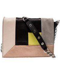 Longchamp - Mutlicolor Leather Colorblock Art Walk Crossbody Bag - Lyst