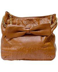 Carolina Herrera - Monogram Leather Audrey Chain Shoulder Bag - Lyst