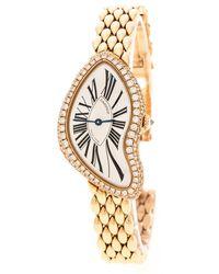 Cartier - Silver 18k Rose Gold Diamonds Limited Edition Crash 3618 Women's Wristwatch 25 Mm - Lyst