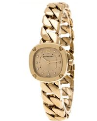 259160c35b Burberry - Gold Plated Diamond Bby1952 Women's Watch 24mm - Lyst