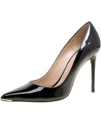 Barbara Bui - Black Patent Leather Metal Pointed Toe Pumps Size 39 - Lyst