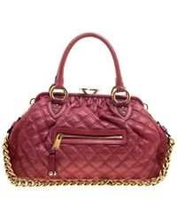 3688beb8541c Marc Jacobs - Pink Quilted Leather Stam Shoulder Bag - Lyst