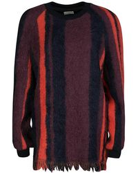 Dries Van Noten - Blanket Striped Columbia Wool And Alpaca Fringed Hem Sweater M - Lyst