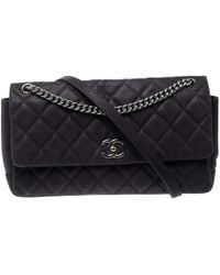Chanel - Matte Quilted Caviar Leather Medium Lady Pearly Flap Bag - Lyst