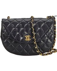 f9da353545e167 Chanel Matelasse Cc Classic Medium Shoulder Bag Patent Leather Brown ...