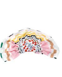 Missoni Mare Multicolour Zig Zag Pattern Knit Beach Turban