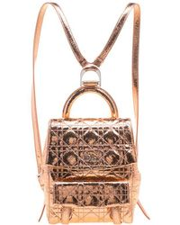 Dior - Bronze Ceramic Effect Leather Stardust Backpack - Lyst