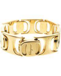 Ferragamo - Tone Interlocking Link Bracelet - Lyst