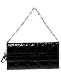 Dior - Cannage Patent Leather Lady Clutch - Lyst