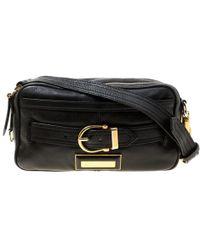 1e8a50180570 Burberry - Leather Buckle Crossbody Bag - Lyst