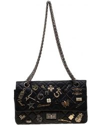 f2ad87afcbc5fa Chanel - Black Quilted Leather Limited Edition Lucky Charm Reissue 2.55  Classic 225 Flap Bag -